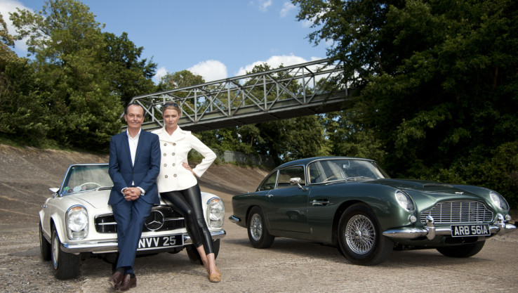 "Filming Of ""The Classic Car Show"" With Jodie Kidd"